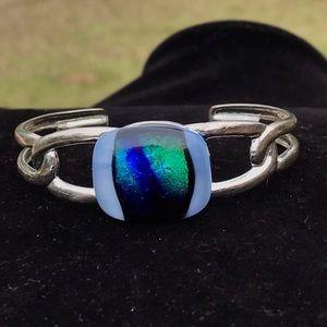 Vintage BEST Venetian glass cuff bracelet